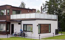Elementhus med murfasade